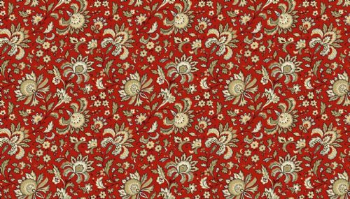 Riviera Rose Small Red & Tan Jacobean Floral  2/9085RN